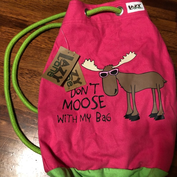 NWT Lazy One Moose backpack funny